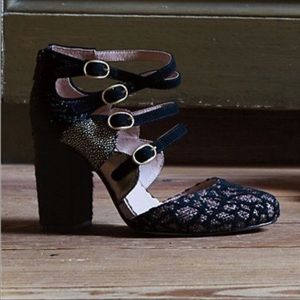 Anthropologie-Miss Albright-Shimmered Calico Heels
